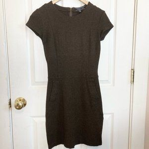 Peruvian Connection Brown Stretch Sheath Dress With Front Pocket Size 4